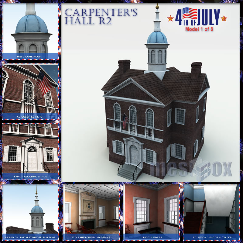 Carpenter&#039;s Hall 3D