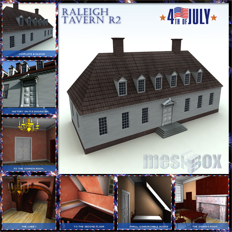 Raleigh Tavern 3D