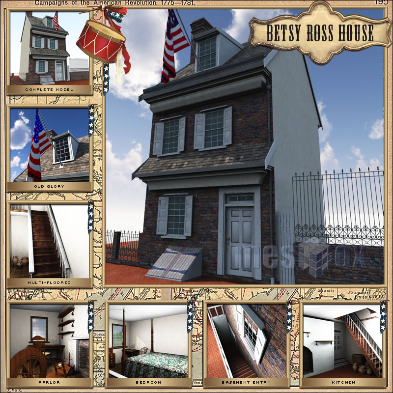 Betsy Ross House 3D