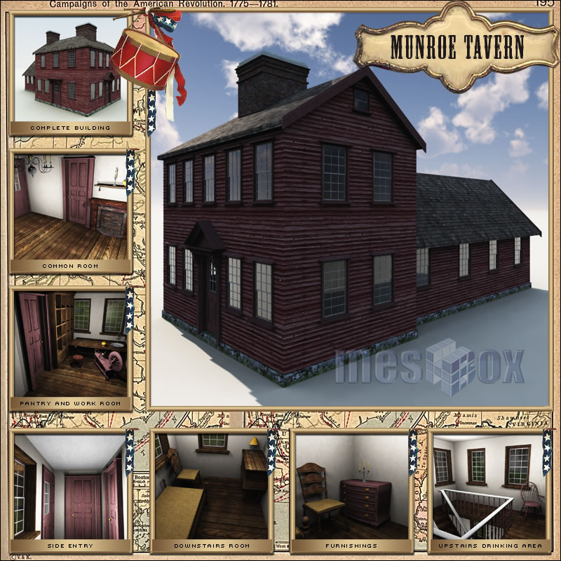 Munroe Tavern 3D
