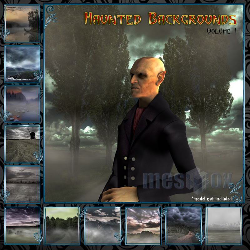 Haunted Backgrounds Volume 1 - for 3D models