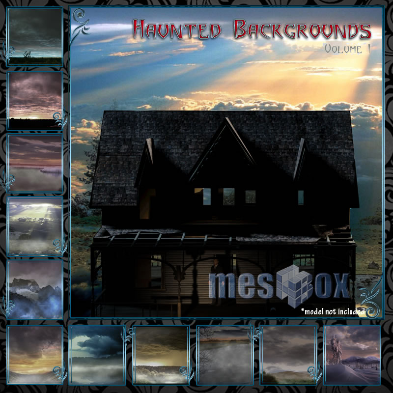 Haunted Backgrounds Volume 1 - for 2D Artwork