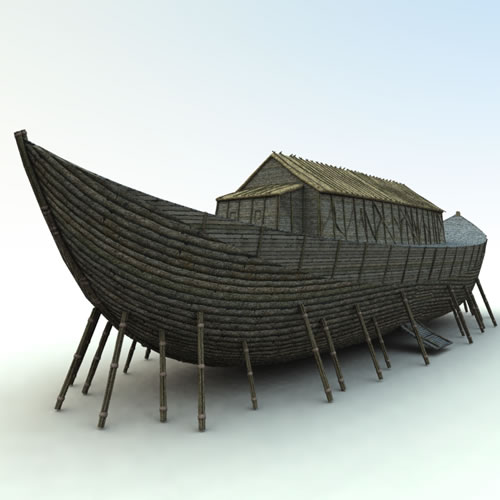 Noah's Ark 3D - sitting on posts