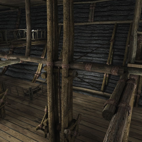 Noah's Ark 3D - entry area with rope and pulleys