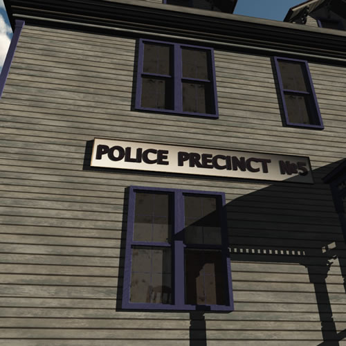 3D Haunted Village Police Station