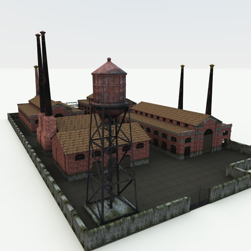 Steampunk Abandoned Factory and Villain's Lair