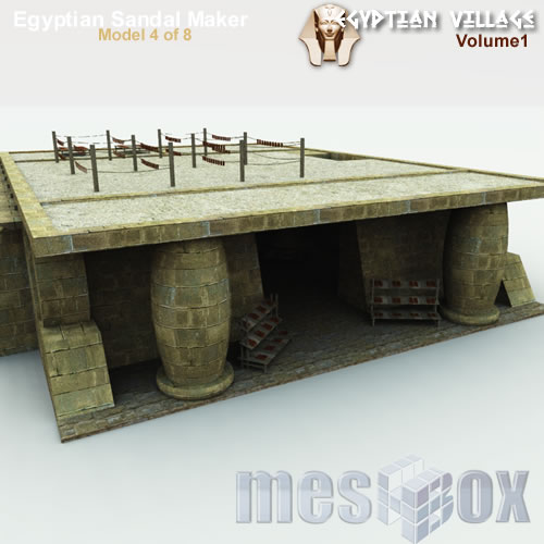 3D Ancient Egypt Sandal Maker - Basic Global Illumination