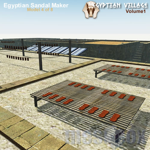 3D Ancient Egypt Sandal Maker - Roof Access