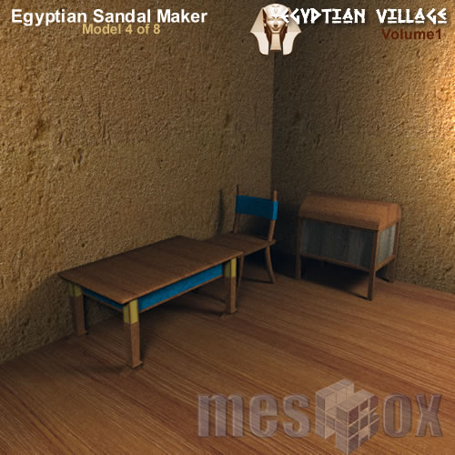 Ancient Egypt Sandal Maker - Living Area