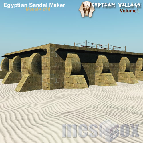 Ancient Egypt Sandal Maker - Unique Building Shape