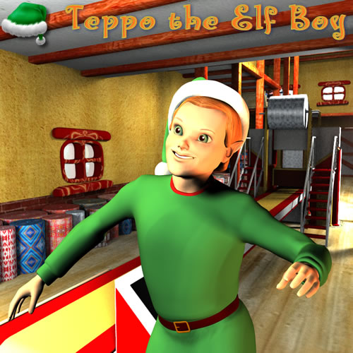 Teppo in Toon Santa's Wrapping Factory