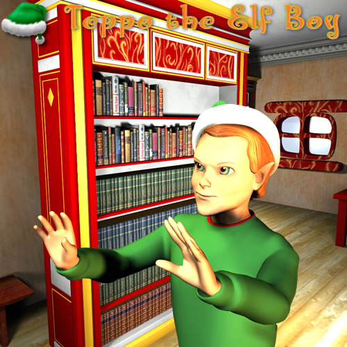 Teppo Doing Magic in Toon Santa's Library