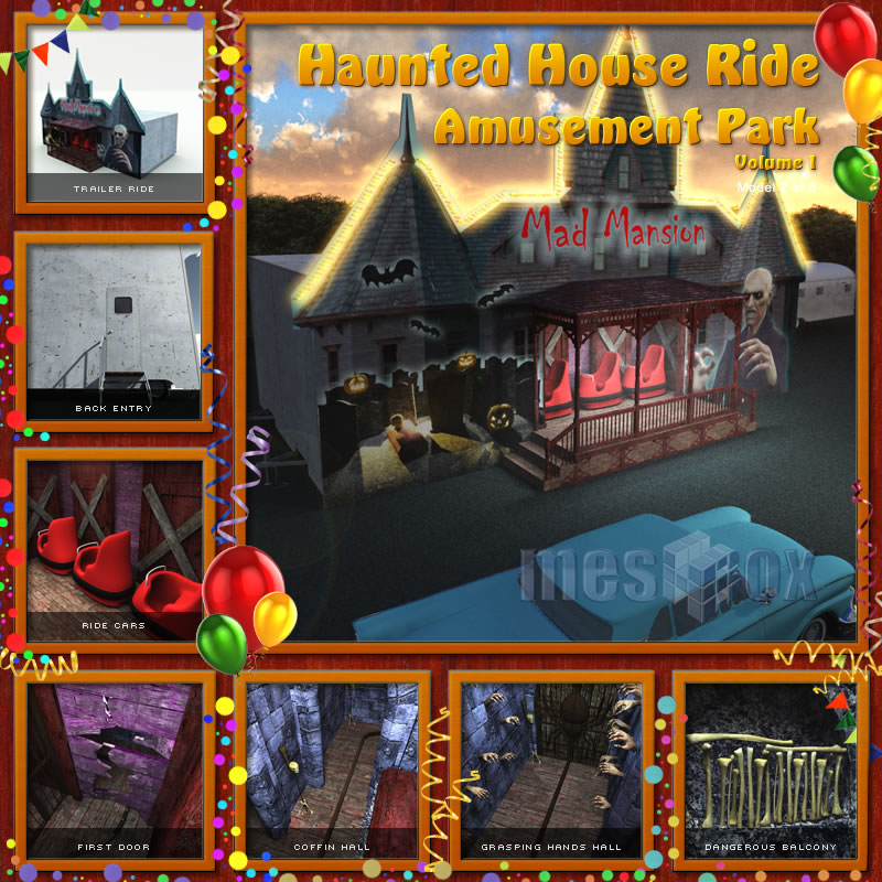 Mad Mansion Haunted House Ride