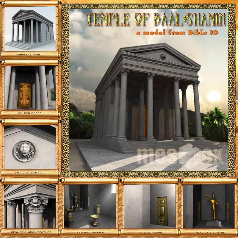 Temple of Baal Shamin 3D