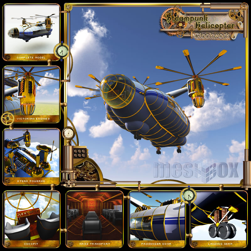 Clockwork Steampunk Helicopter