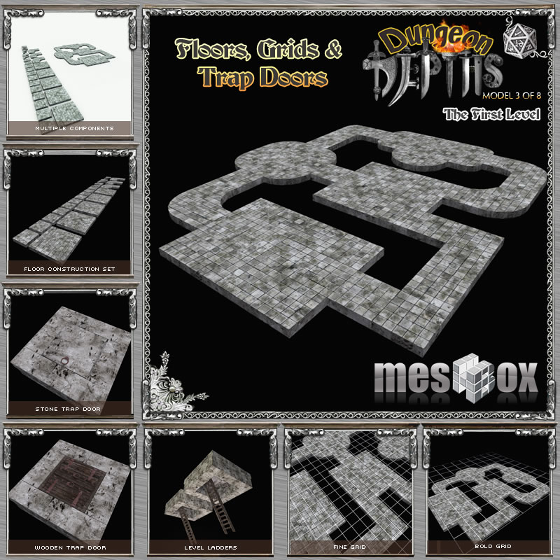Dungeon Floors, Grids and Trap Doors