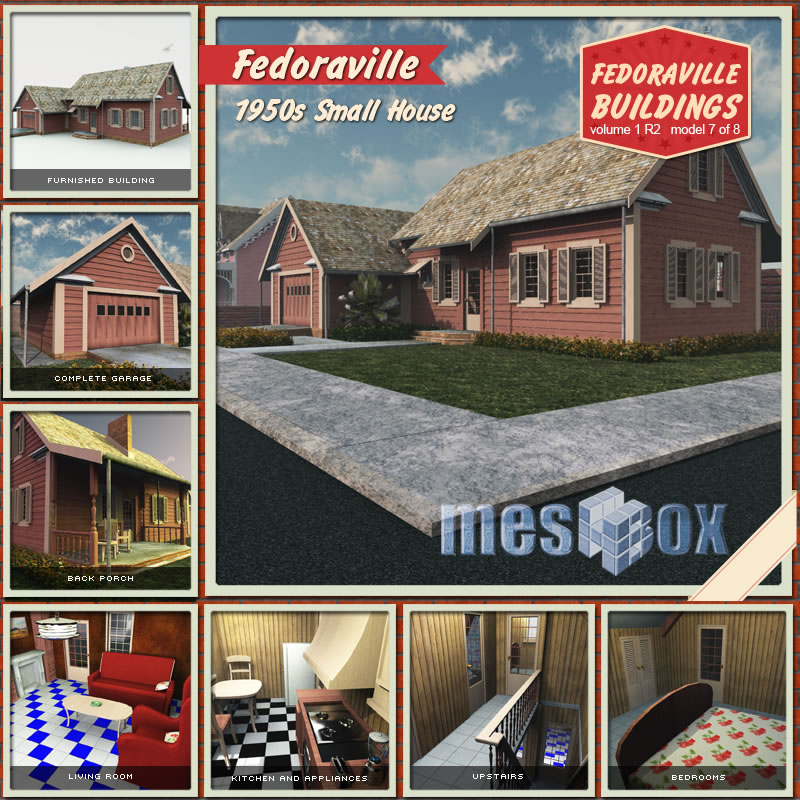 Fedoraville 1950s Small House