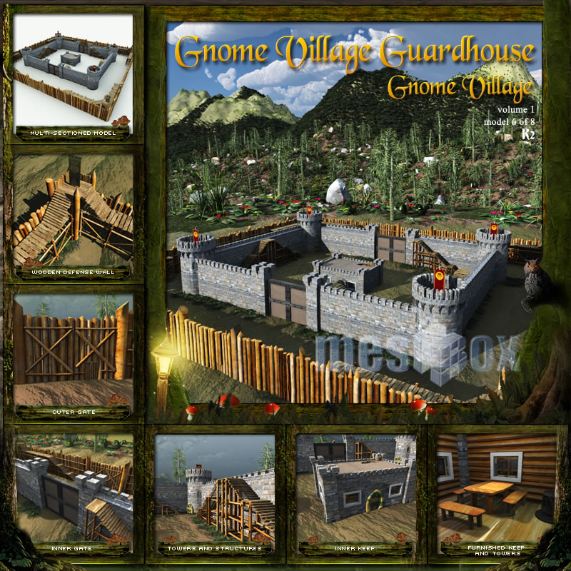 Gnome Village Guardhouse Castle
