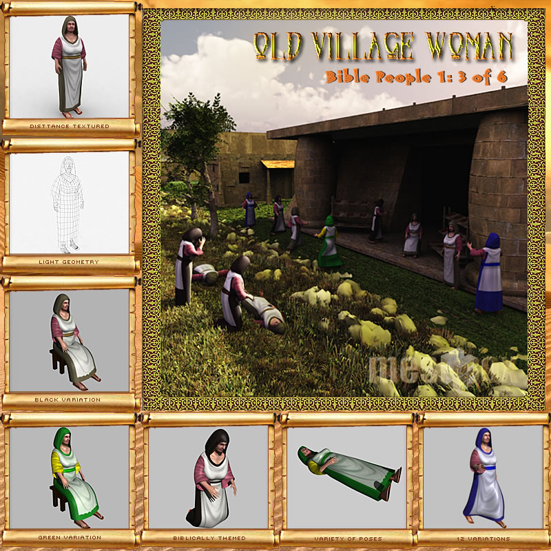 Bible People: Old Village Woman