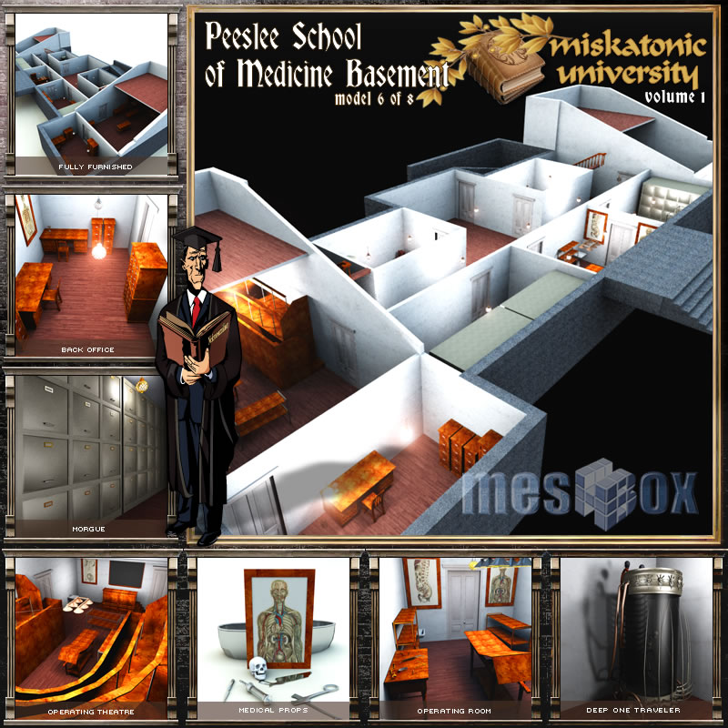 Peeslee School of Medicine Basement R2, Miskatonic University
