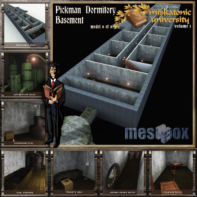 Pickman Dormitory Basement R2, Miskatonic University