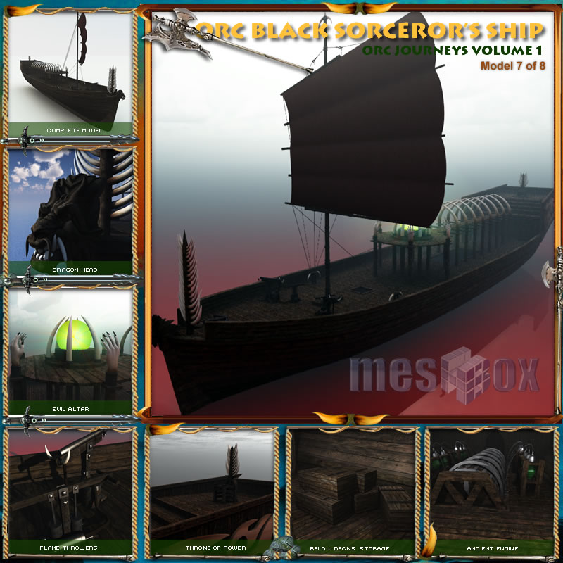 Orc Black Sorceror Ship