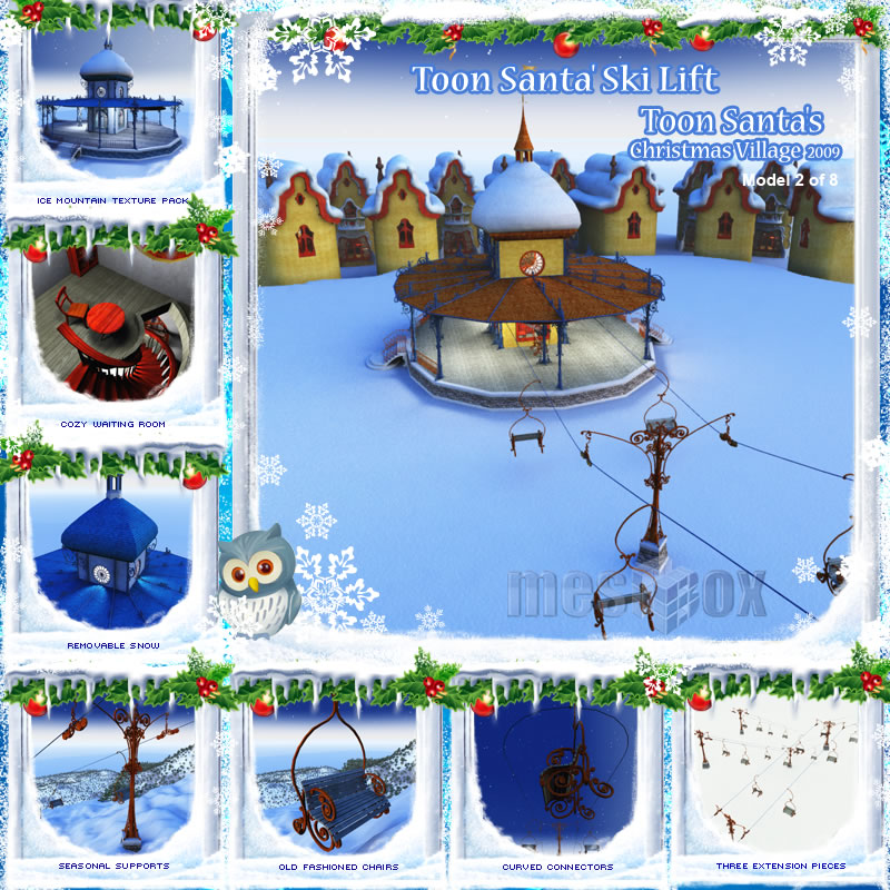 Toon Santa&#039;s Ski Lift and Ski Station