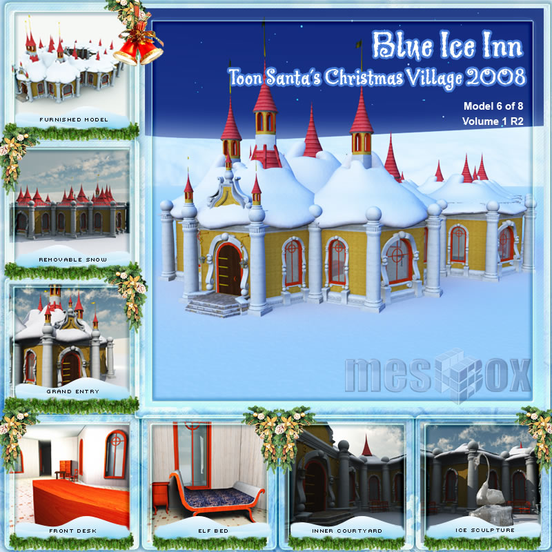 Toon Santa&#039;s Blue Ice Inn