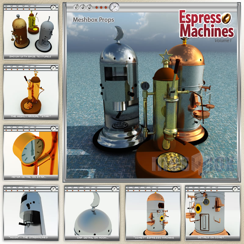 3D Espresso Machines Volume 1