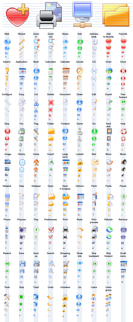 Valerian Icon Set Professional Edition