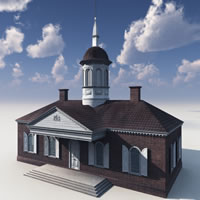 Williamsburg Colonial Courthouse