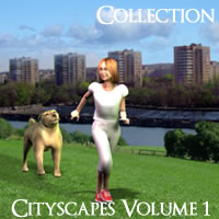 Cityscapes Backgrounds Volume 1