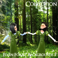 Elven Forest Backgrounds Volume 1