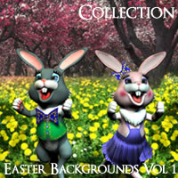 Easter Backgrounds Volume 1