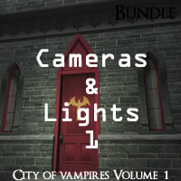 City of Vampires Volume 1 R2 Cameras and Lights Pack 1 for Poser