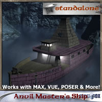 Dwarven Anvil Master Ship (DJ1V106-3DS)