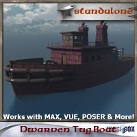 Dwarven Tug Boat (DJ1V107-3DS)