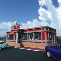 Fedoraville 1950s American Diner