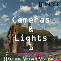 Halfling Village Volume 1 R2 Cameras and Lights Pack 1 for Poser