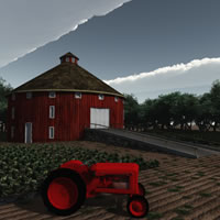Round Barn and Tractor