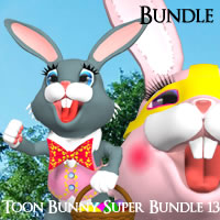 Toon Bunny Superbundle 13 for Poser / DAZ Studio