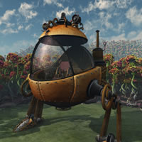 TB Steampunk Eggwalker Robot
