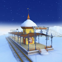 Toon Santa&#039;s Train Depot