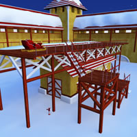 Toon Santa&#039;s Sleigh Garage and Launch Pad