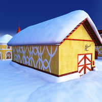 Toon Santa&#039;s Reindeer Stables R2