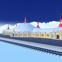 Toon Santa&#039;s North Pole Train Station