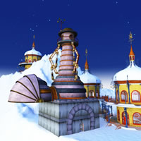 Toon Santa&#039;s Zeppelin Station