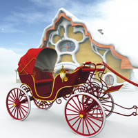 Christmas Phaeton Buggy Carriage