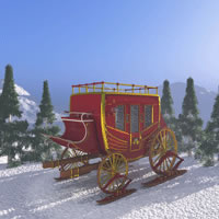 Wild West Christmas Stage Coach