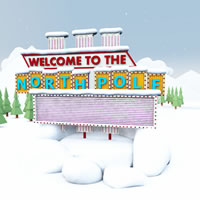 Welcome to the North Pole Sign